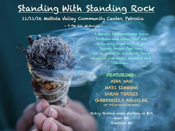 Standing Rock fundraising poster