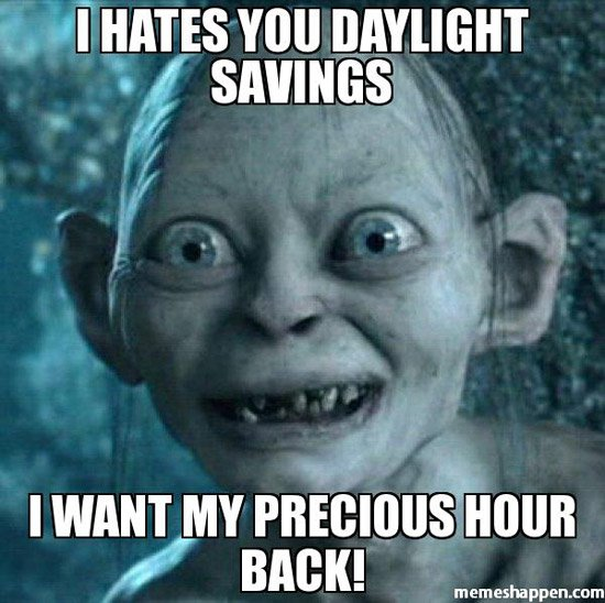Daylight Saving time meme