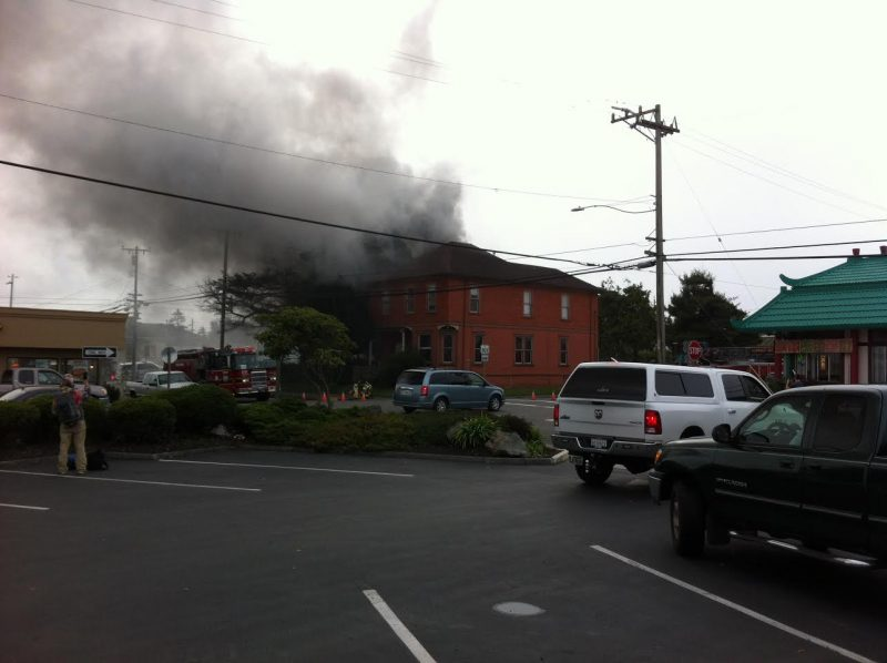 Structure fire in Eureka