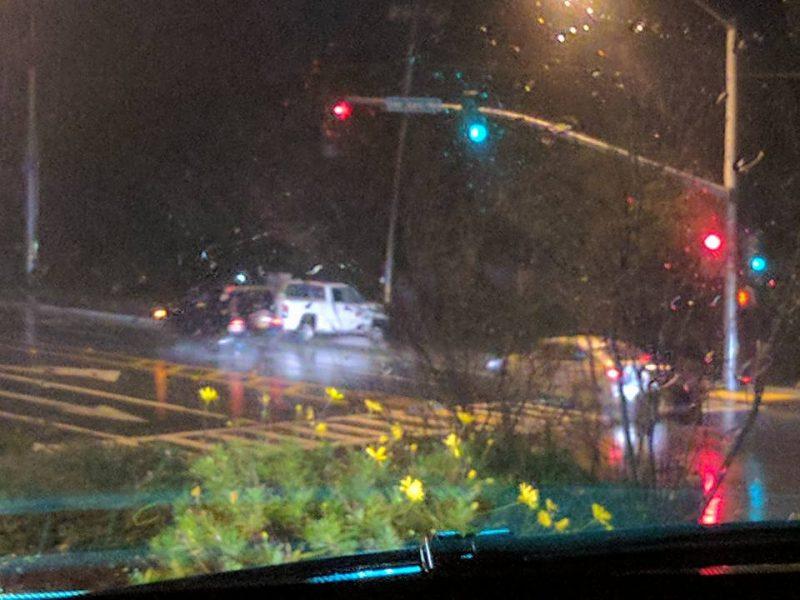 rainy traffic accident