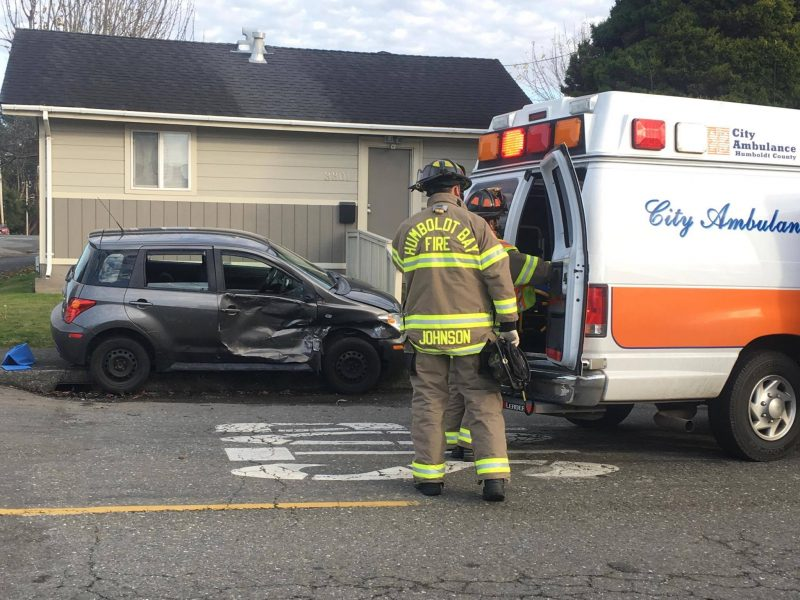 Patient in ambulance after Scion crash
