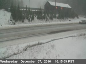 Humboldt 299 at the Berry Summit Sand House, about 10 miles west of Willow Creek (postmile 28.5) From Caltrans Traffic Cam