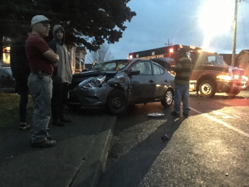 Jeep Laredo and Nissan Sentra collided