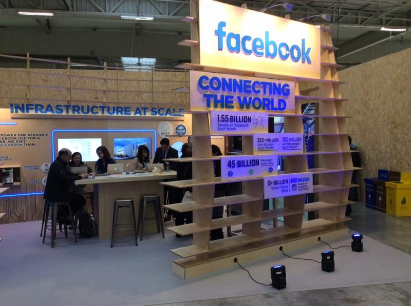 One booth at the 2015 Climate Change Conference in Paris