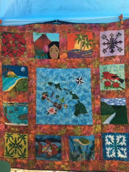 Quilt with Hawaii theme