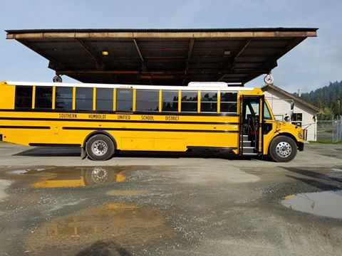 Southern Humboldt Unified School District bus
