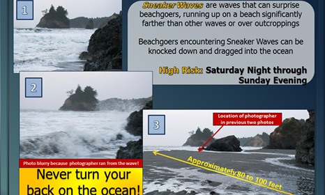 NWS Graphic about sneaker waves