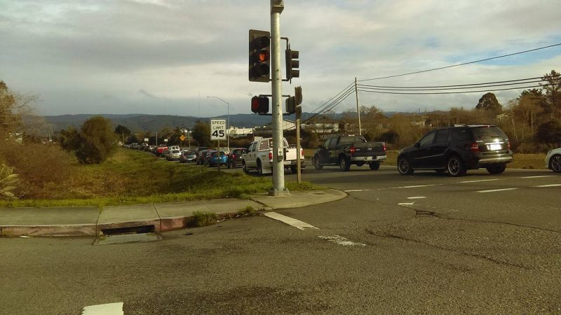 Traffic stopped in Eureka