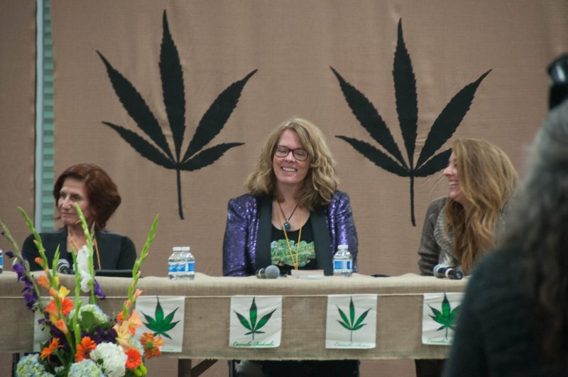 A panel discussing women in the cannabis industry
