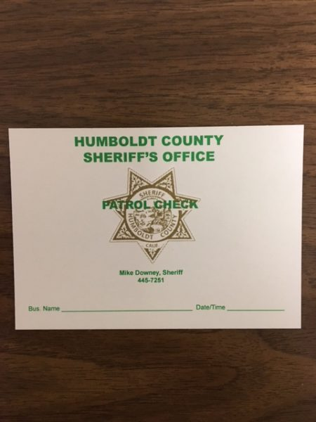 Sheriff's office patrol check