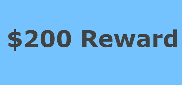 $200 Reward