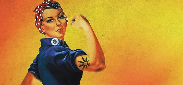Woman Rosie the Riveter marijana