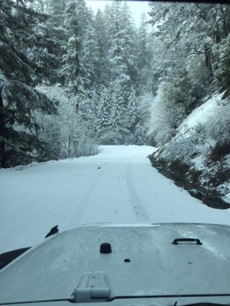 Snow on Hwy 511