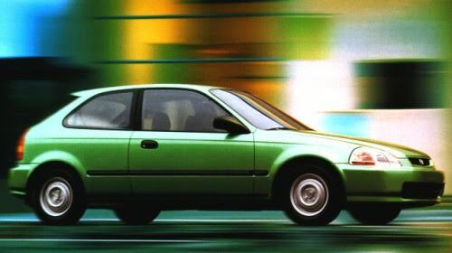 Stock photo of a green car