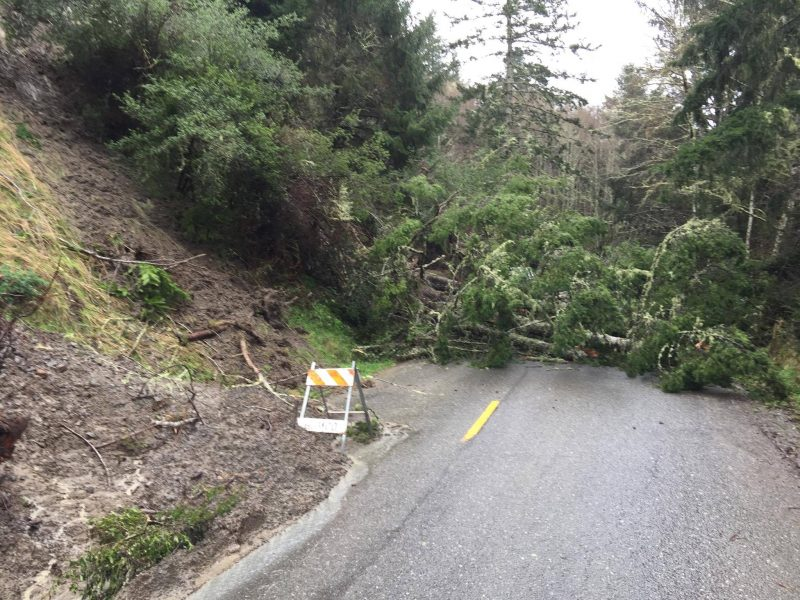 Mattole Road slide closed