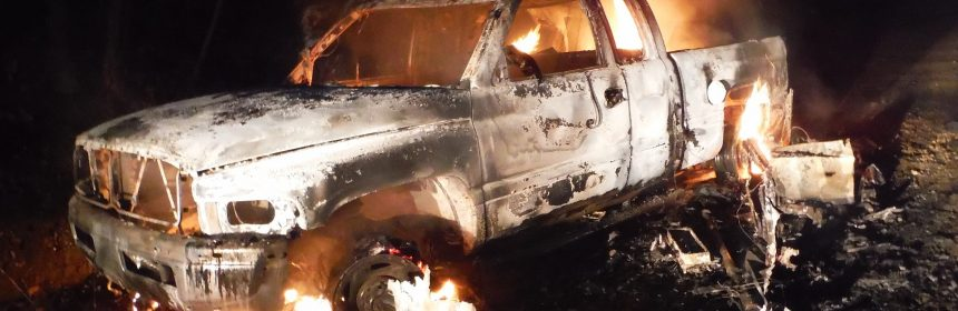 Vehicle burning, car fire