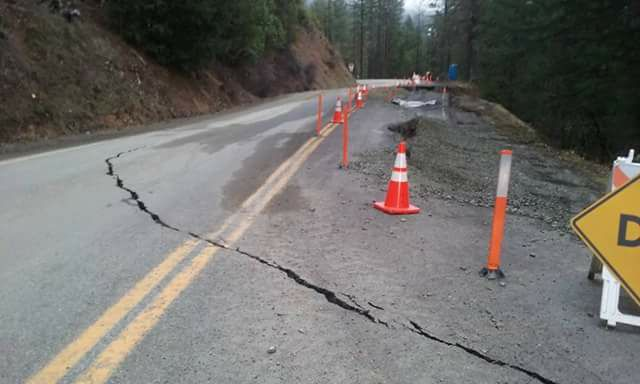 Crack destroying Hwy 96