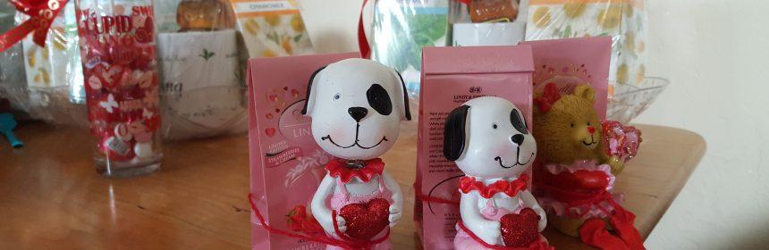 Valentine baskets of goodies