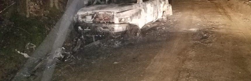 burned car fire