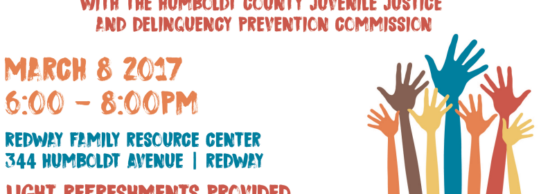 poster for Humboldt County Juvenile Justice and delinquency Prevention Commission