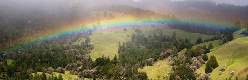 Rainbow in the Humboldt Hills