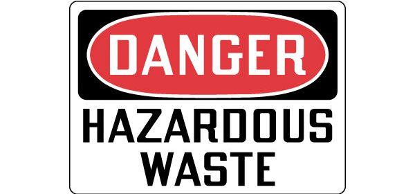 Danger hazardous waste feature graphic icon
