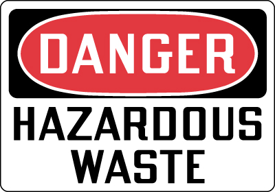 Danger hazardous waste