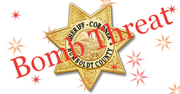 bomb threat Humboldt COunty Sheriff feature