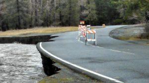 River undercutting road