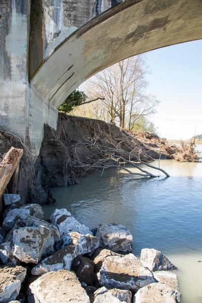Bridge abutment on Fernbridge