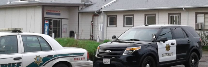 Humboldt County Sheriff's deputies at Jerald Phelps Hospital