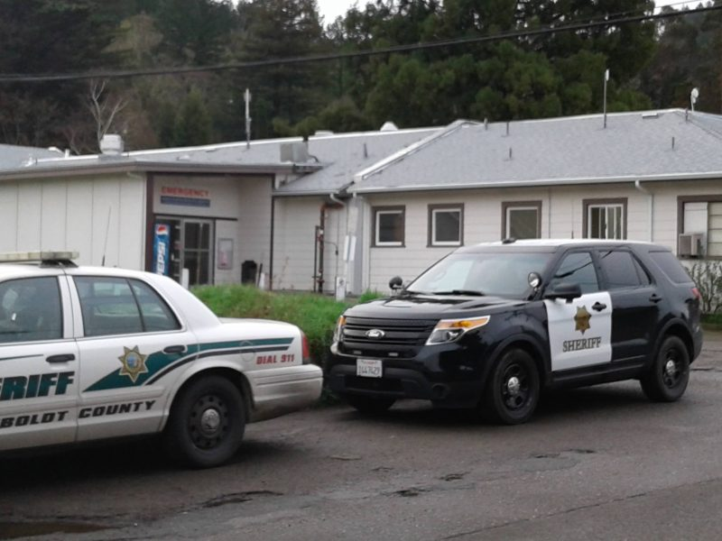 Humboldt County Sheriff's deputies at Jerald Phelps Hospital