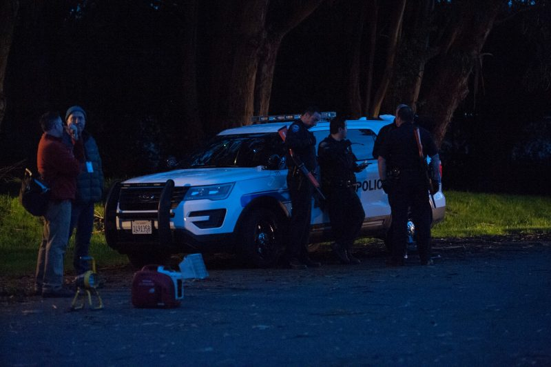 Law enforcement around a vehicle