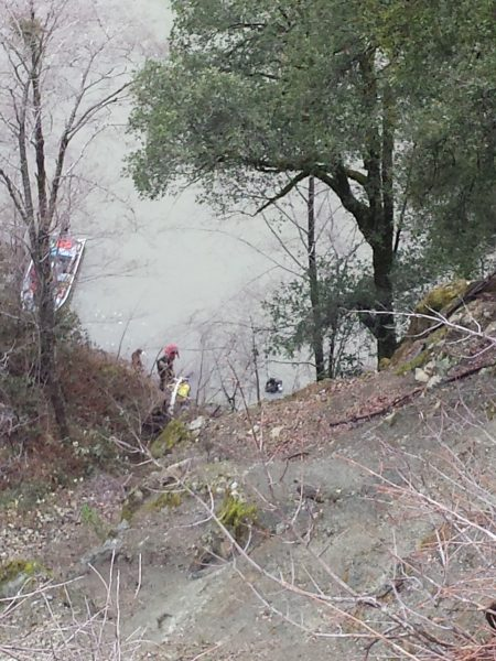 The Klamath River near the scene of the crash. [Photo provided by Orleans Volunteer Fire Department]