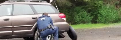 CHP Changing a tire