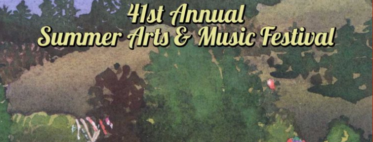 Poster for 41 annual Summer arts and Music