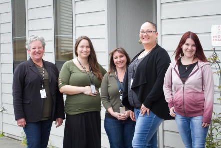 The Cal-Learn staff from left to right, Pamela Fishtrom, Kristie Serda, Lara Lee, Alicia Combs and Chloe Brown.