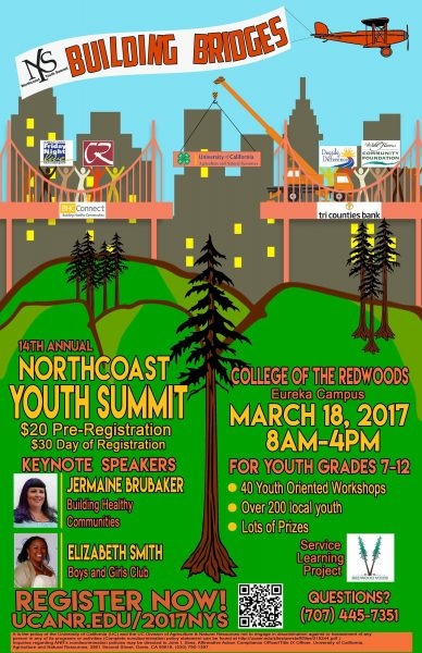 Poster to the NOrth Coast Teen Summit