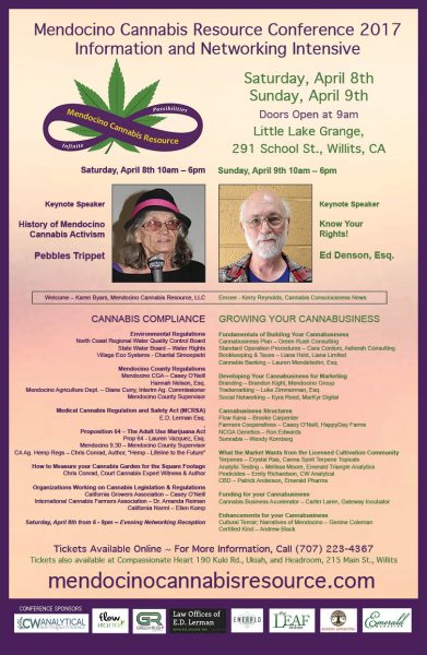 Mendocino Cannabis Resource Conference Poster