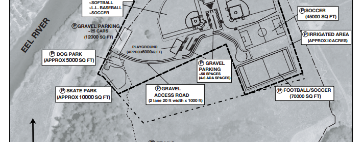 Southern Humboldt Community Park proposed sports complex.