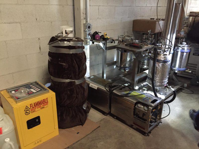 BHO hash butane lab extraction