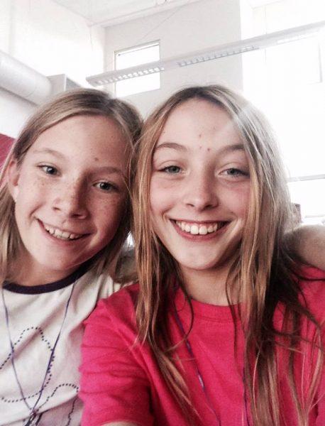 Athena Fausset and Catrina Johnson