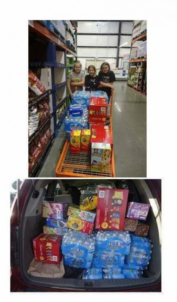 Girl Scout Troop Buying Supplies