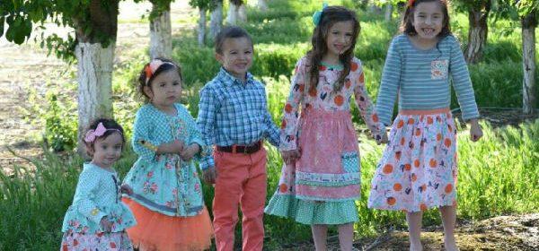 children in bright clothing