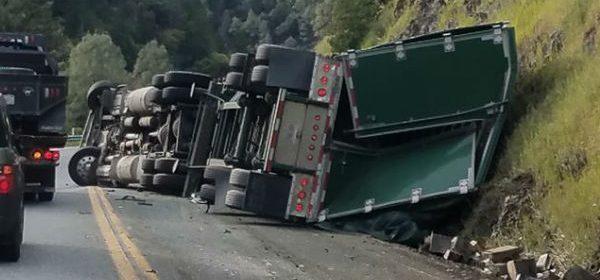 Semi Truck overturned
