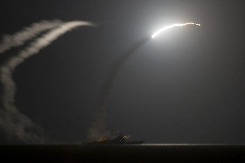 Tomahawk missile strike