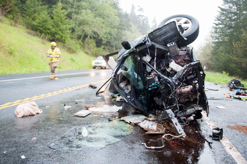 Car Wreck On Highway  August Th