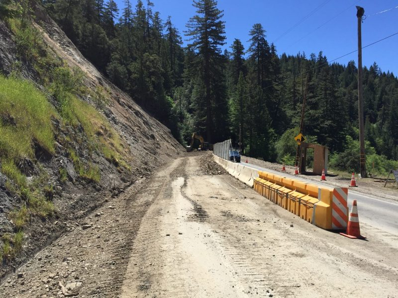 Hwy 101 cleared of a slide