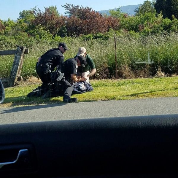 FOrtuna Police arresting a suspect