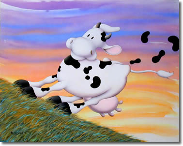 Cow in the Wind by Stu Markowitz